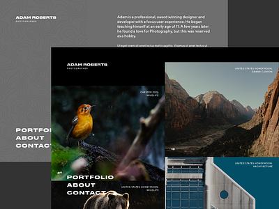 Photography Portfolio v2 gatsby react photography design concept portfolio