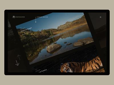 Photoscoper V3 Categories portfolio web photography