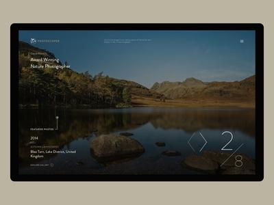 Photoscoper V3 ui web concept photography portfolio