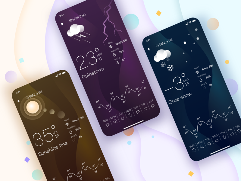 weather icon ux app design ui