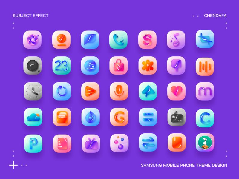 icon 三星手机主题设计Samsung mobile phone theme design sketch illustration app logo icon design