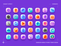 icon 三星手机主题设计Samsung mobile phone theme design