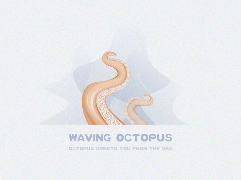 Octopus greets you from the sea ux icon