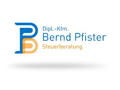 Bernd Pfister Logo grid monogram branding vector illustration dribbble design logo