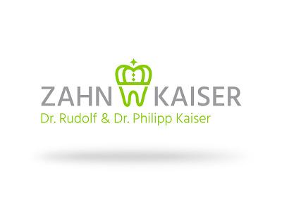 Zahn Kaiser Logo dentist vector branding illustration dribbble design tooth logo