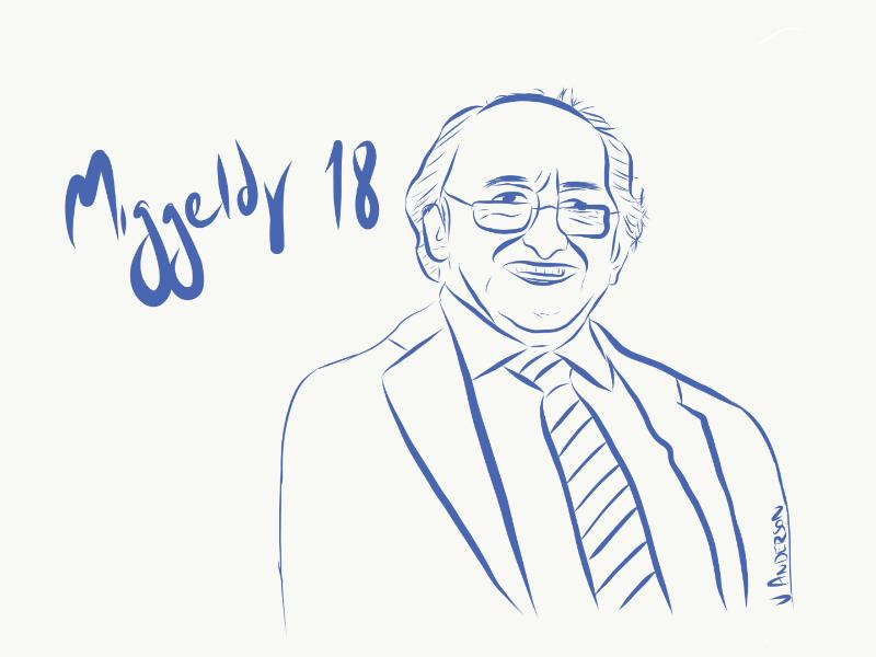 Keep the Poet - Michael D Higgins Áras 18 keep the poet man illustrator draw ipad line drawing president illustration ireland