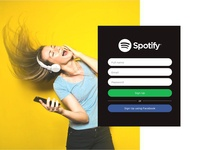 Spotify Sign Up Page - Yellow Concept
