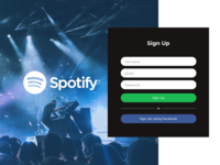 Spotify Sign Up - Blue Concept