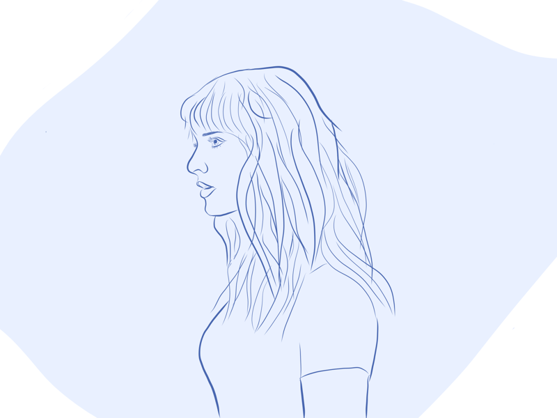 Tay Swizzle sketch of the day line drawing illustration adobe draw sketch taylor swift