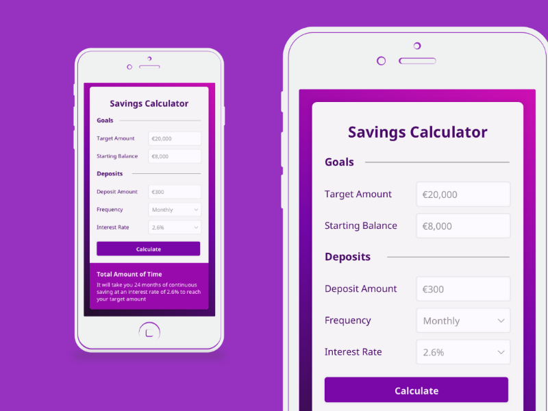 Daily UI #04 Savings Calculator mockup concept iphone app savings calculator calculator daily ui challenge daily ui sketch