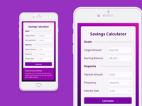 Daily UI #04 Savings Calculator