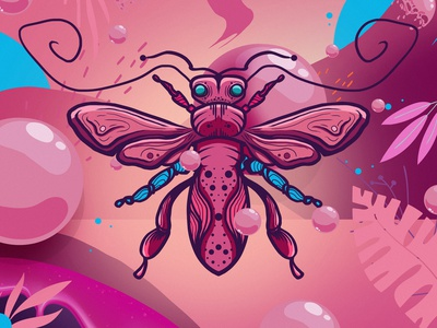 insect 01 colors illustration insect