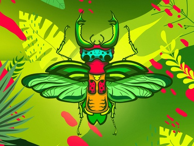 insect 02 insect colorful colors illustration