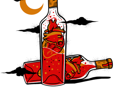 wine_2 colorful wine colors illustration