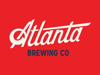 Atlanta brewing logo branding brewery beer typography wordmark script georgia atlanta brewing logo
