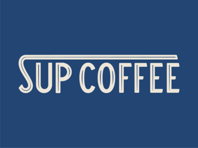 Sup coffee wordmark type identity typography branding logo coffee wordmark