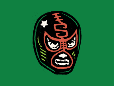 Wrestler luchador mark beer illustration branding brewing southern wrestling wrestler