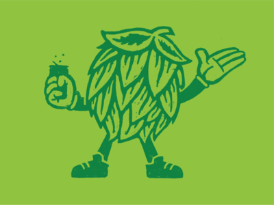 Southern hop illustration athens branding georgia beer brewery illustration hop brewing southern