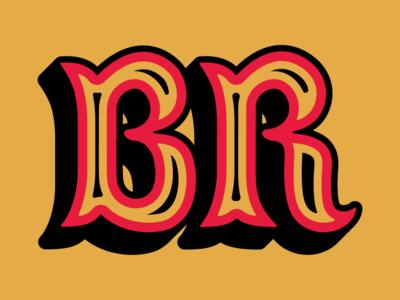 B & R mark identity lettering branding type typography r b letter monogram