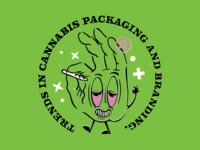 Blaze it smoking hand marijuana trends branding packaging cannabis weed illustration