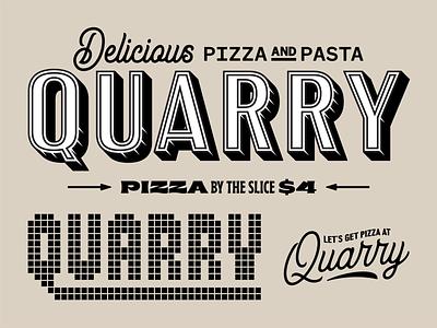 Quarry pie co branding 1 logo identity restaurant tile script typography type pizza pie quarry branding
