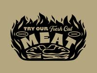Turchetti's artifacts 1 butchery market shop fire illustration butcher indianapolis indiana flames typography butcher shop steak meat