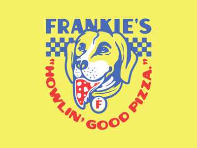 Good boy good pizza parlor restaurant food indianapolis indiana good boy branding dog illustration pizza