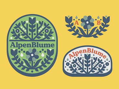 Alpenblume hard seltzer 1 flower colorado denver brewing monoline beer illustration deer hard seltzer seltzer hard typography identity badge branding