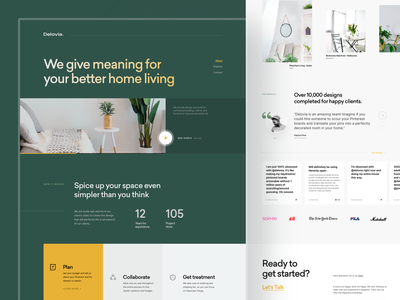 Interior Website Designs Themes Templates And Downloadable Graphic Elements On Dribbble