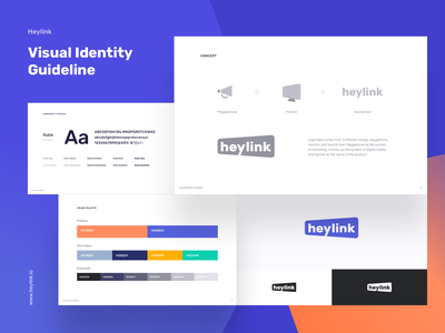 Heylink - Visual Identity Guideline publisher branding digital product automation ads monetize content monetization logo guideline visual identity logo