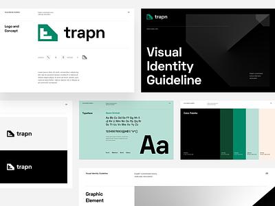 trapn - Visual Identity Guideline color palette typography logo design symbol mark visual identity brand identity branding brand logo