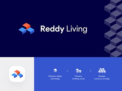Reddy Living - Unused Logo Concept rejected unused logo proposal mark identity branding unused logo concept