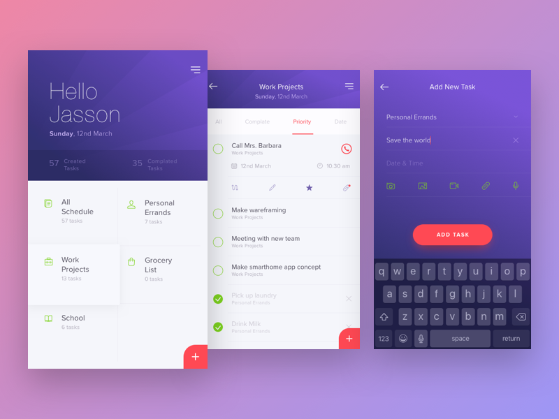 Wooke To Do List App By Kukuh Andik Dribbble
