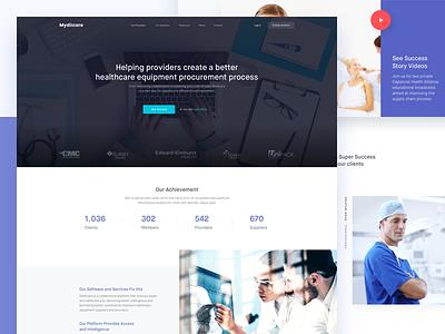 Mydiicare -Healthcare Providers ui minimal company web design landing page homepage healthcare medical