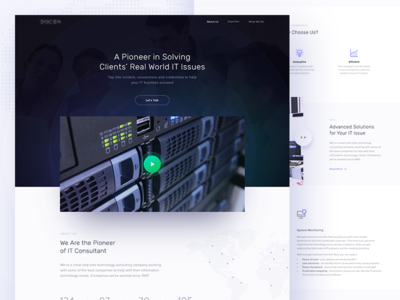 IT Consultant Homepage (rejected) rejected consultant it homepage landing page web design company minimal ui
