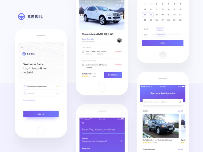 Sebil - Car Rental App by Kukuh Andik for Sebo on Dribbble