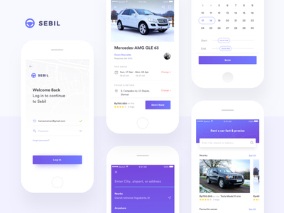 Sebil - Car Rental App car rental rent car ui mobile ios minimal clean concept app