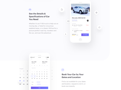 Sebil Car Rental App - Landing page app concept clean mobile ui car rent car rental download landing page website