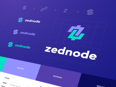 Zednode Logo brand guide identity brand guideline visual identity logo icons service zcoin masternode cryptocurrency