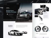 Acura NSX - Automotive Website Concept