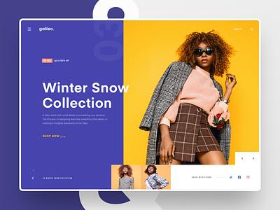 #Exploration | Galileo - Fashion Website concept exploration web design minimalist mondrianizm fashion clean ui website header