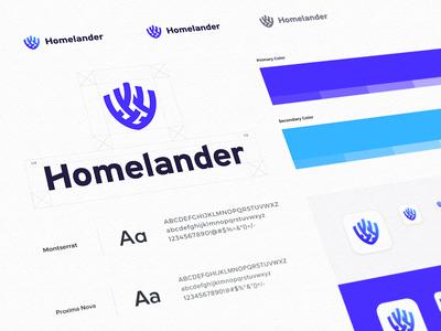 Homelander - Logo Guideline homeland security defender community logo guide visual  identity branding company minimal clean design logo