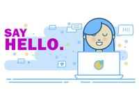 Twitter Say Hello