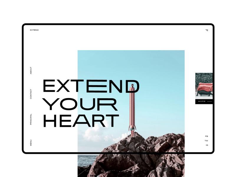 Surreal Stretched #3 design slider design colorfull mondrianizm