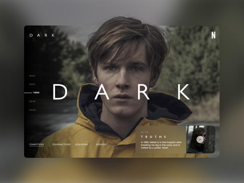 Dark week #1 uidesign ui ux uxdesign mondrianizm dark app netflix dark ui dark