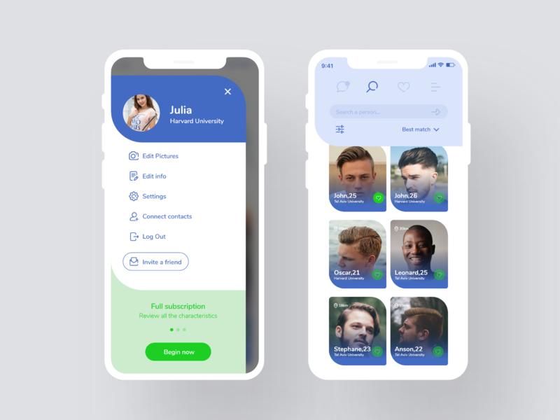 Dating app #2 uxui ui uxdesign uidesign ux datingapp application dating app
