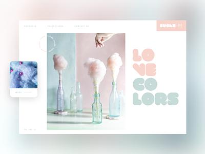 Sugar #1 colorfull design mondrianizm ui slider