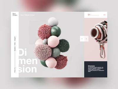 New Shape #1 dimension 3d mondrianizm colorfull ux uxdesign uidesign ui