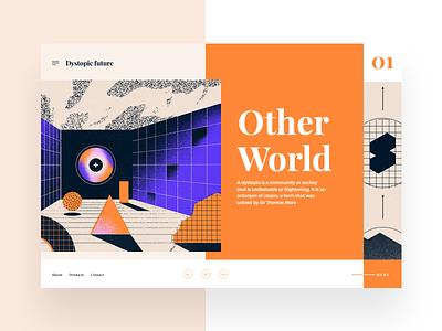 Dystopic future #1 slider colorfull design ui mondrianizm dailyui