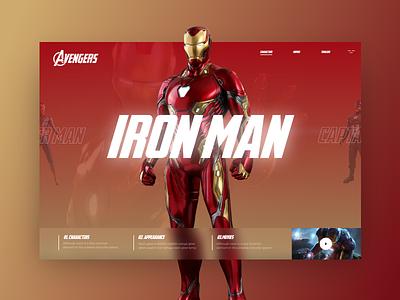 Avengers #1 uidesign ui colorfull slider design slider avengers ironman